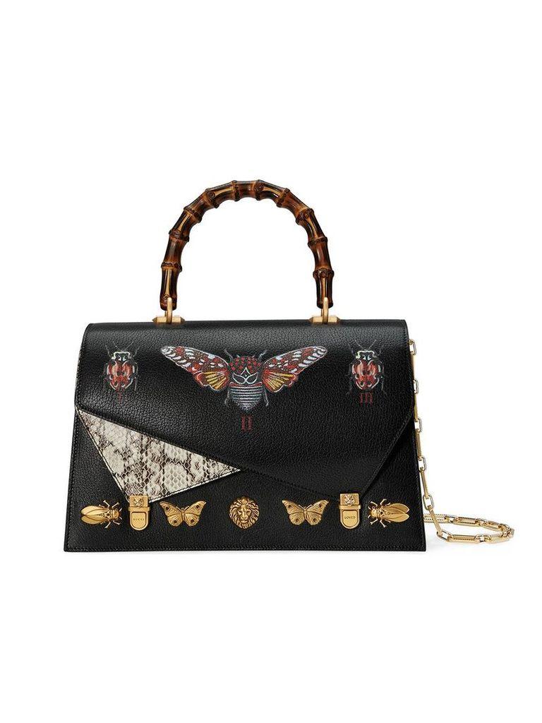 Gucci Ottilia leather top handle bag - Black
