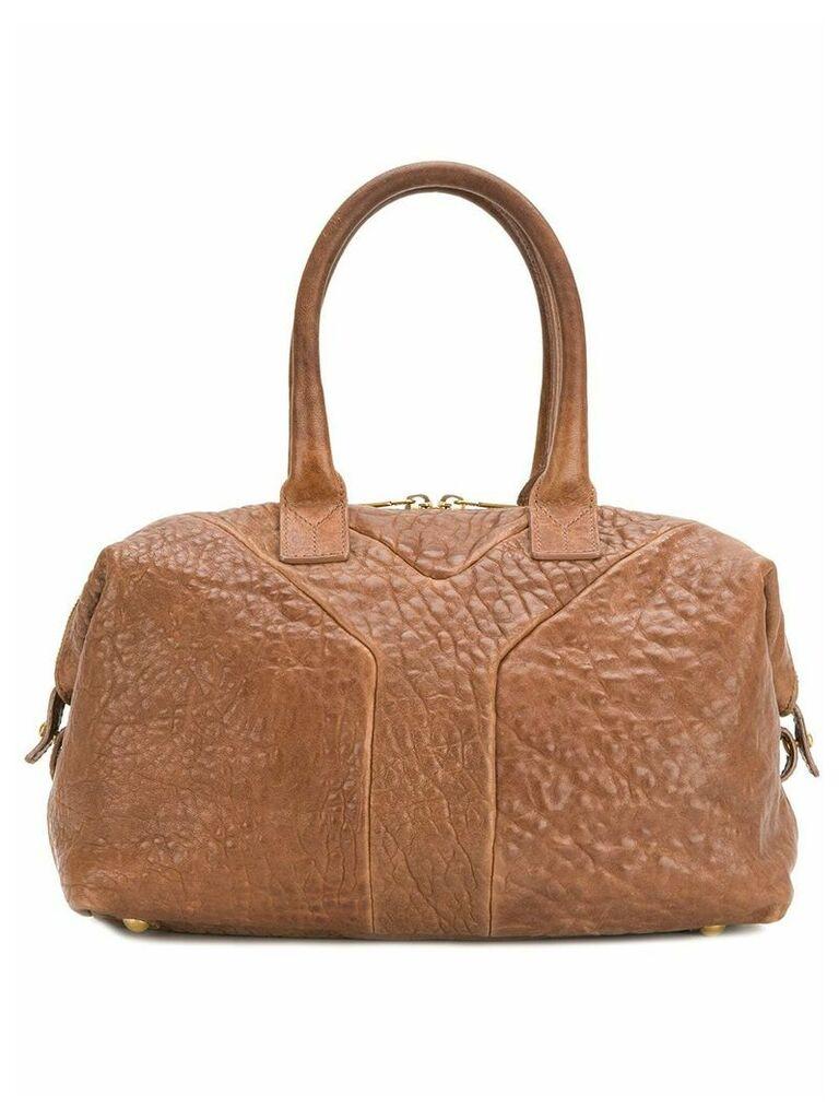 Yves Saint Laurent Vintage textured tote - Brown