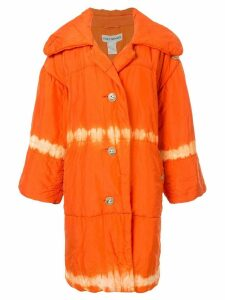 Issey Miyake Pre-Owned puffer coat - Orange