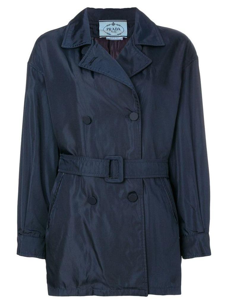 Prada Vintage short trench coat - Blue