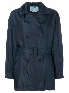 Prada Pre-Owned short trench coat - Blue