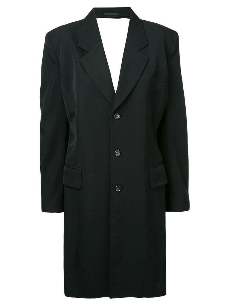 Comme Des Garçons Vintage backless tailored coat - Black