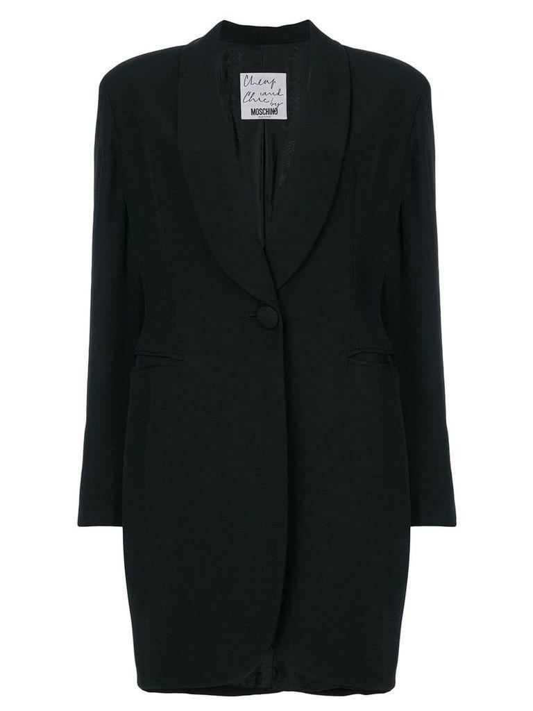 Moschino Vintage shawl lapel coat - Black