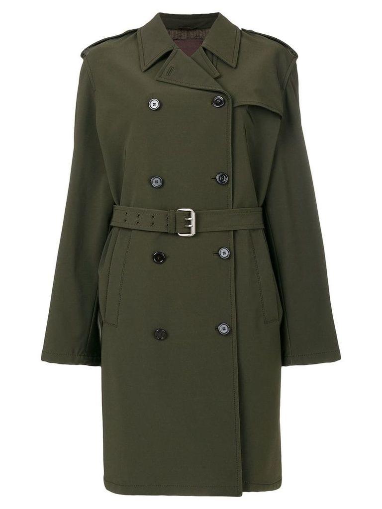 Prada Vintage belted trench coat - Green