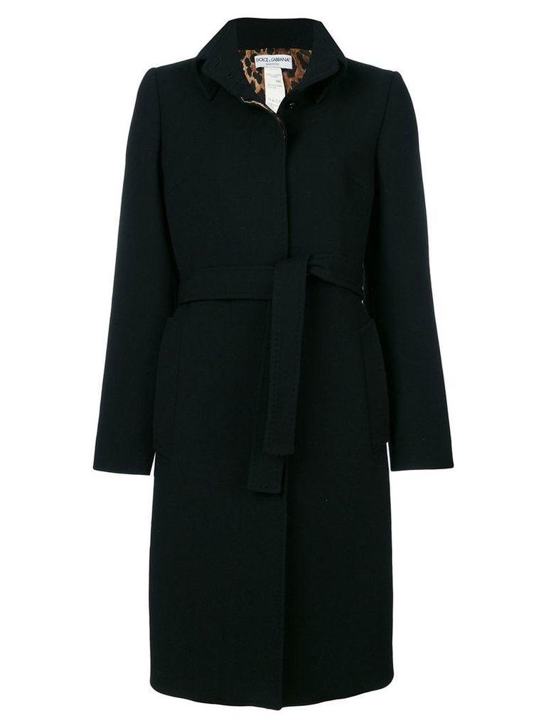 Dolce & Gabbana Vintage belted midi coat - Black