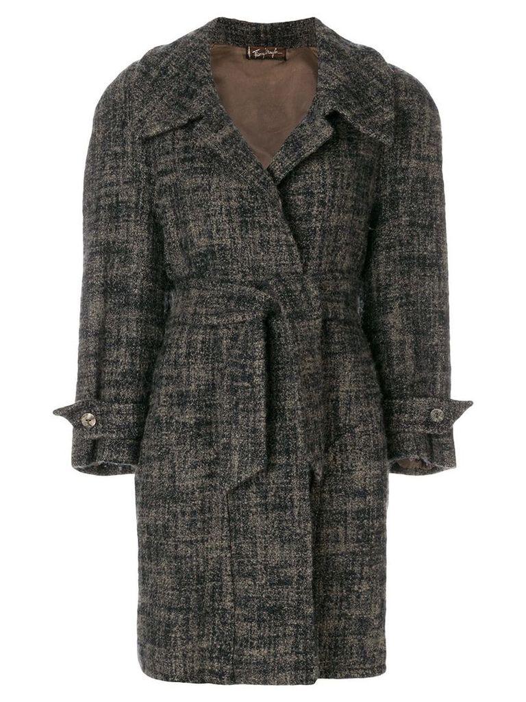 Thierry Mugler Vintage loose-fit belted coat - Blue