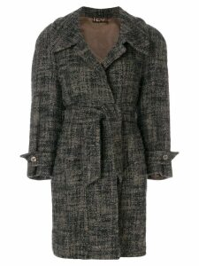 Thierry Mugler Pre-Owned loose-fit belted coat - Blue