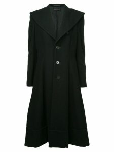 COMME DES GARÇONS PRE-OWNED oversized collar coat - Black