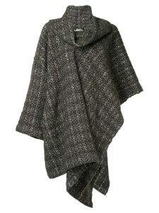 Issey Miyake Pre-Owned plaid knitted coat - Brown