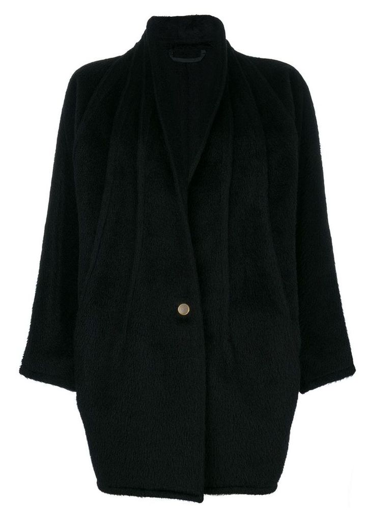 Versace Vintage shawl collar coat - Black