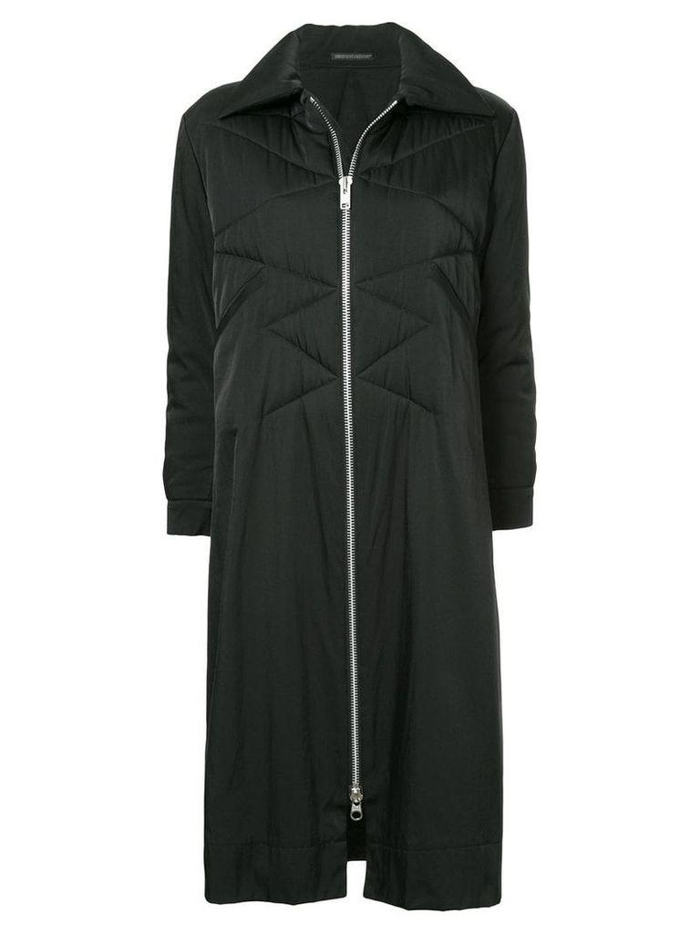 Yohji Yamamoto Vintage quilted long coat - Black