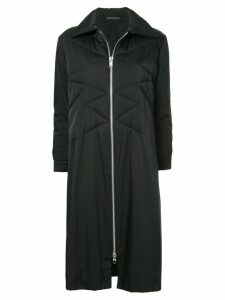 Yohji Yamamoto Pre-Owned quilted long coat - Black