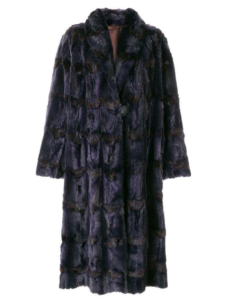 Fendi Vintage long fur coat - Purple