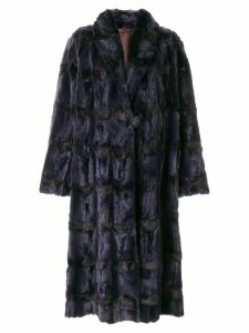 Fendi Pre-Owned long fur coat - Purple