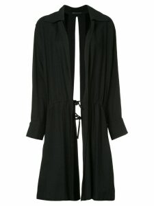 YOHJI YAMAMOTO PRE-OWNED deconstructed drawstring coat - Black