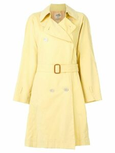Hermès Pre-Owned belted trench coat - Yellow