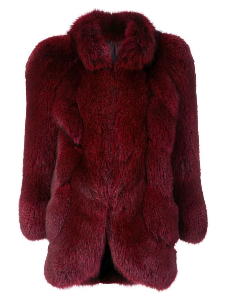 Christian Dior Vintage fox fur coat - Red