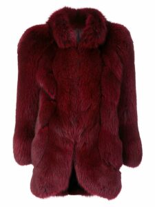 Christian Dior Pre-Owned fox fur coat - Red