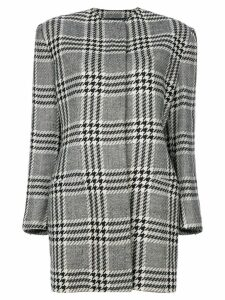 Versace Pre-Owned houndstooth coat - Black