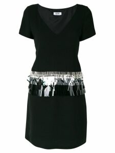 MOSCHINO PRE-OWNED beaded embroidery dress - Black