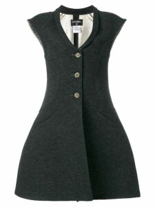Chanel Pre-Owned Vest-Overcoat dress - Grey