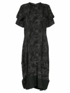 Comme Des Garçons Pre-Owned floral jacquard dress - Black