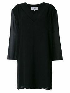 Gianfranco Ferre Pre-Owned sheer panel dress - Black
