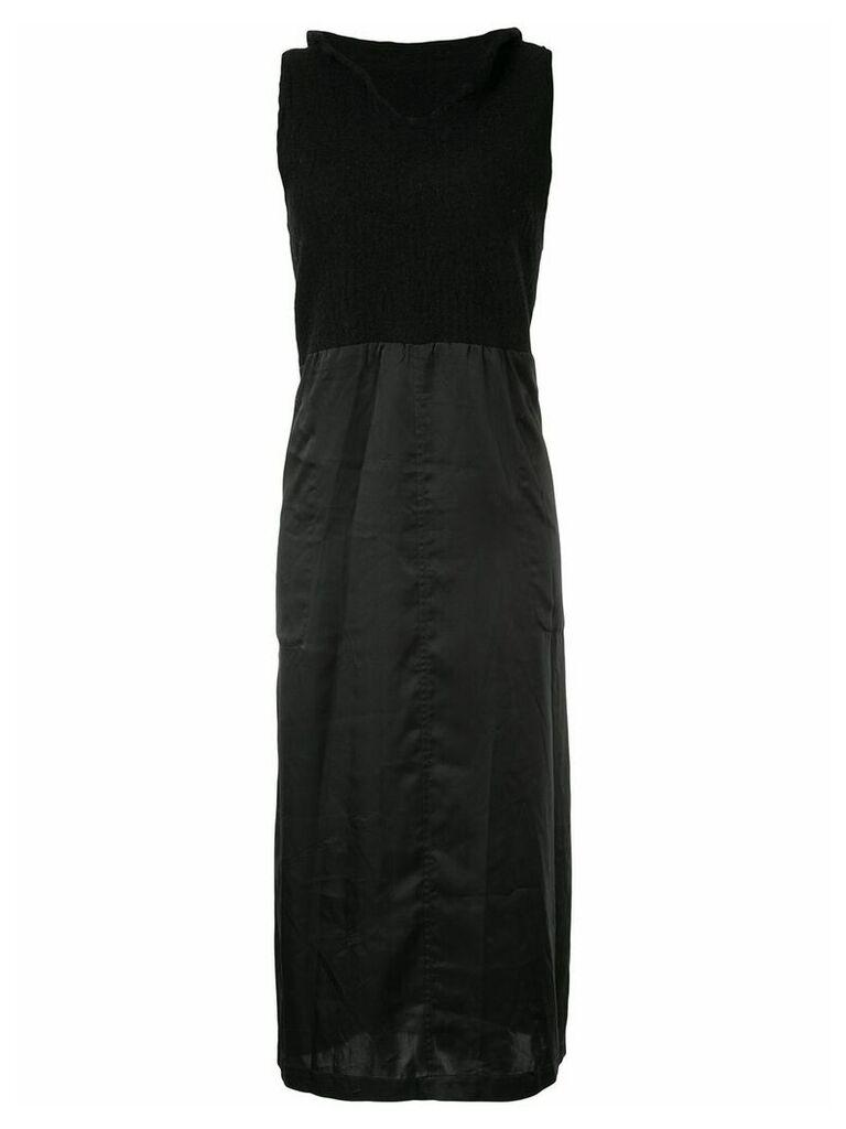 Comme Des Garçons Vintage knitted panel dress - Black