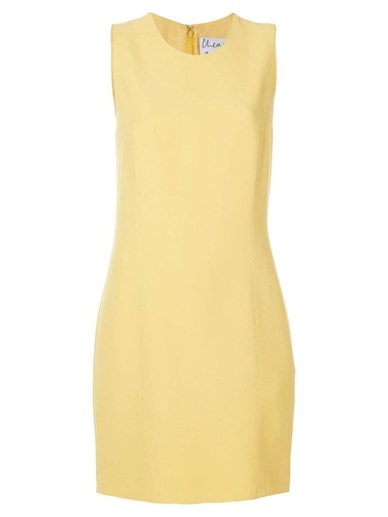 Moschino Vintage sleeveless shift dress - Yellow