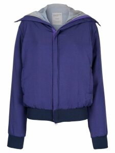 Yohji Yamamoto Pre-Owned back print bomber jacket - Purple