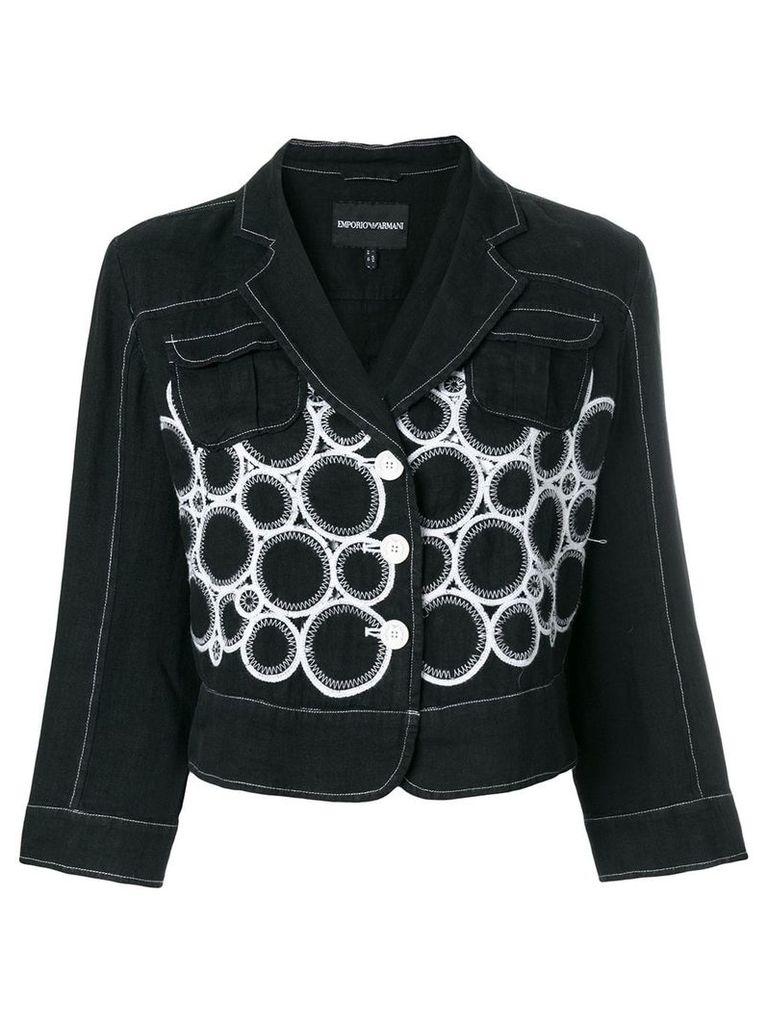 Giorgio Armani Vintage embroidered jacket - Black