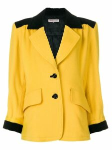 Yves Saint Laurent Pre-Owned shoulder pads blazer - Yellow