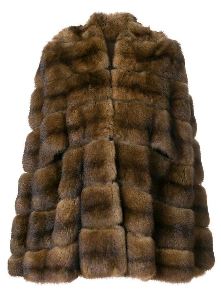 Fendi Vintage fur cape - Brown
