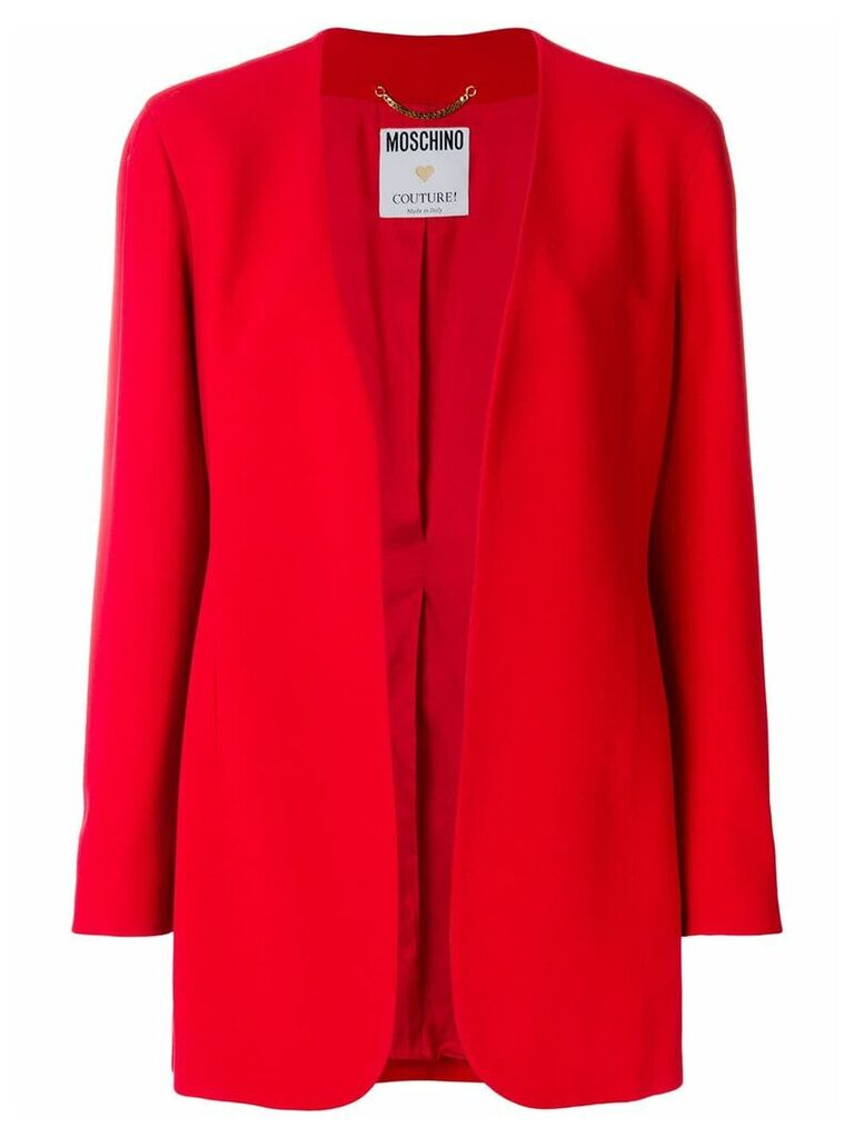 Moschino Vintage relaxed open blazer - Red