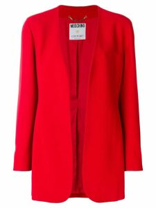 Moschino Pre-Owned relaxed open blazer - Red