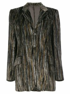 Moschino Pre-Owned striped velour jacket - Multicolour