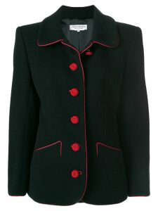 Yves Saint Laurent Pre-Owned contrast stitching blazer - Black