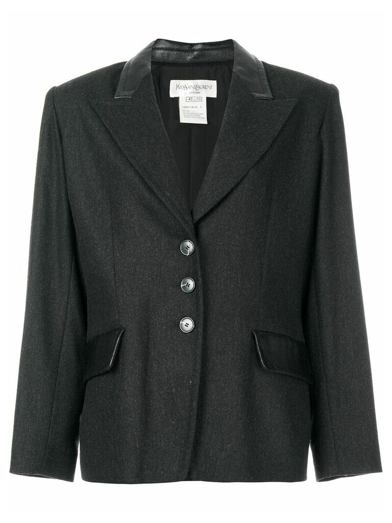 Yves Saint Laurent Vintage peaked lapels blazer - Grey