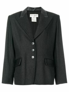 YVES SAINT LAURENT PRE-OWNED peaked lapels blazer - Grey