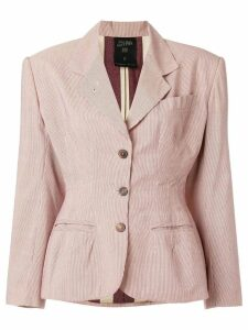 Jean Paul Gaultier Pre-Owned pinstriped blazer - NEUTRALS