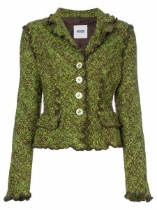 Moschino Pre-Owned boucle knit jacket - Green