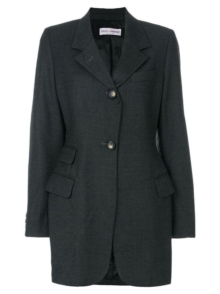 Dolce & Gabbana Pre-Owned elongated blazer - Grey
