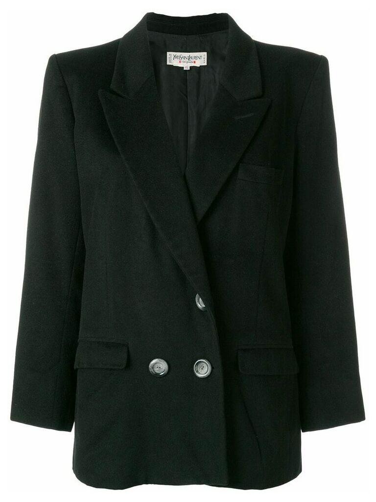 Yves Saint Laurent Vintage double-breasted blazer - Black