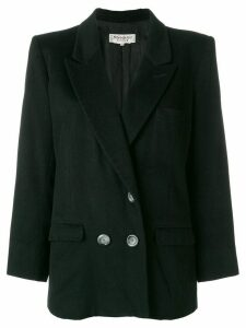 Yves Saint Laurent Pre-Owned double-breasted blazer - Black