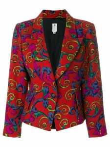 Emanuel Ungaro Pre-Owned abstract floral blazer - Red