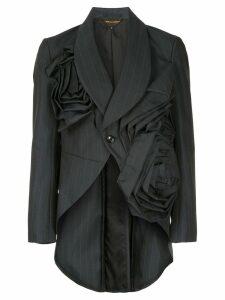 COMME DES GARÇONS PRE-OWNED pinstripe tailored blazer - Black