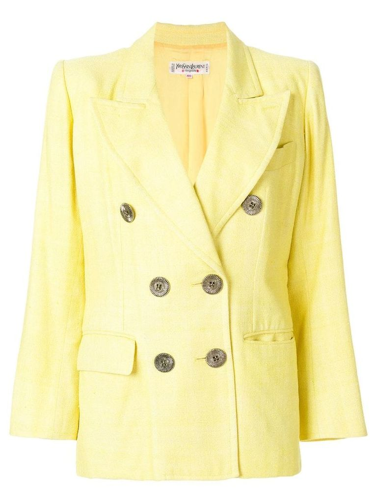 Yves Saint Laurent Vintage double breasted blazer - Yellow