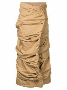 Issey Miyake Pre-Owned Cocoon skirt - Brown