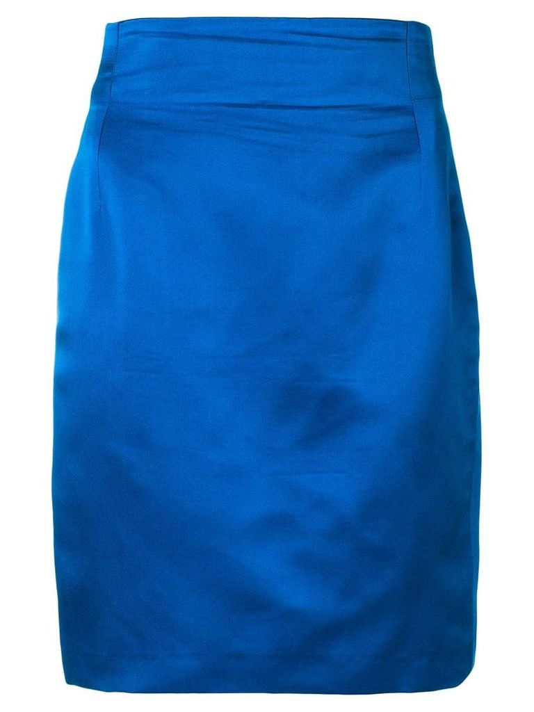 Versace Pre-Owned high rise fitted skirt - Blue
