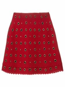 Moschino Pre-Owned eyelet embellished mini skirt - Red